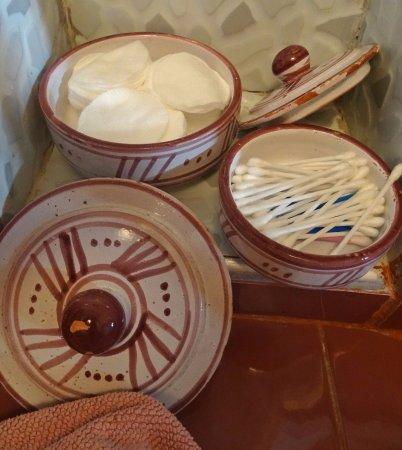 Riad Les Jardins Mandaline: cotton swabs, cotton pads