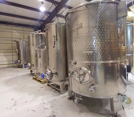 Palisade, CO: Vats of wine in the making