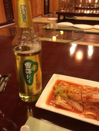 Ji'an, Kina: ビールは冷えていません。ぬるいです。