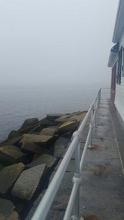 Rockland Breakwater Light: foggy day