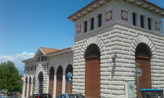 Aigio, Greece: The main entrance side of the Museum