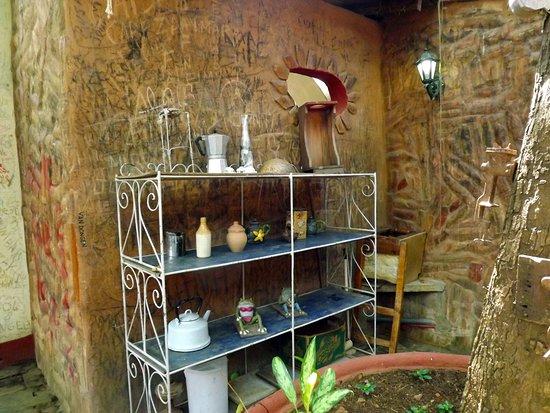 Cafe Don Pepe: the coffee shelf :)