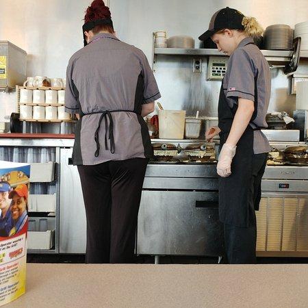 Christiansburg, VA: Waffle making