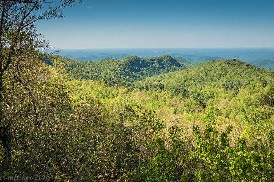 Rosman, Karolina Północna: Views from top of Sassafras
