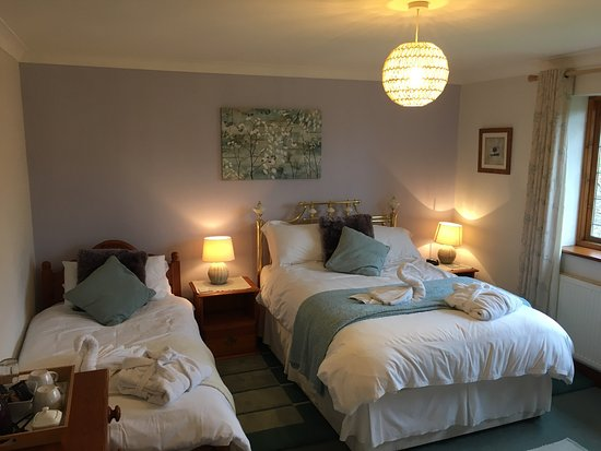 Cheddar B&B Bramblewood: Just a stroll around beautiful Cheddar, must see. Rooms with a view of the top of the gorge. Ask