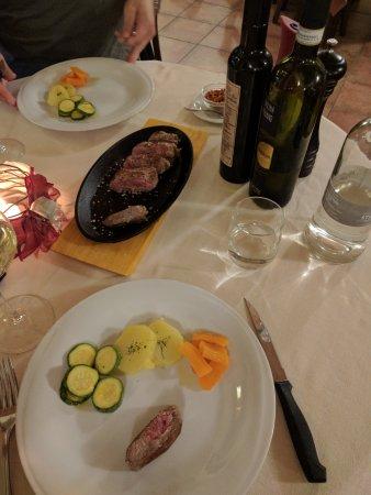 Agliano Terme, Italien: Steak