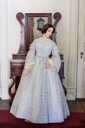 Merchant's House Museum: One of 40 19th century dresses owned by the women of the Tredwell family.