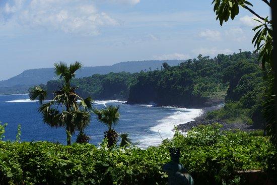 Seraya, Indonesia: Herrlicher Blick aufs Meer