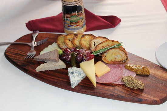 Edelweiss: Jausen Platte Assortment of cured meats, farmer style cheese, and imported pâté