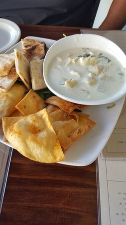 Roux on Canton: The Dip - Spinach, Artichoke,White American,Smoked Gouda,Cream Cheese, and Parmesan