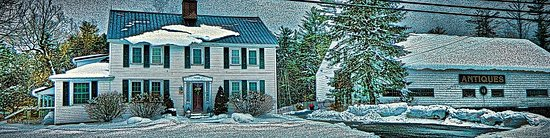 Wolfeboro, NH : 1810 House in winter