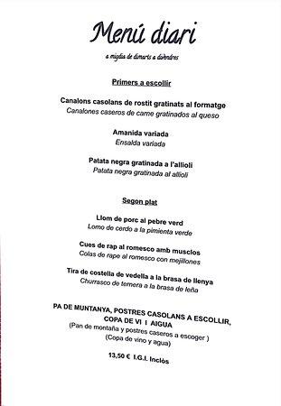 L'aldosa, Andorra: Keuze-lunch van de week
