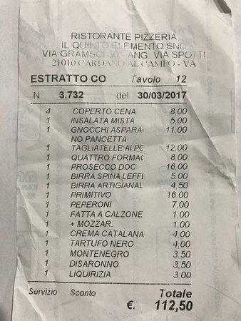 Cardano al Campo, Italy: Quinto Elemento