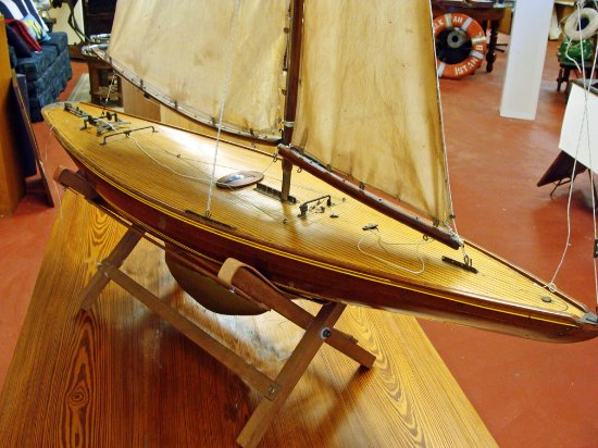 Portsmouth, VA: Early 20th century pond boat from Scotland.