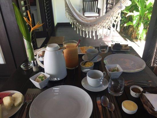 Morere, BA: Deck do Quarto para um delicioso café da Manhã