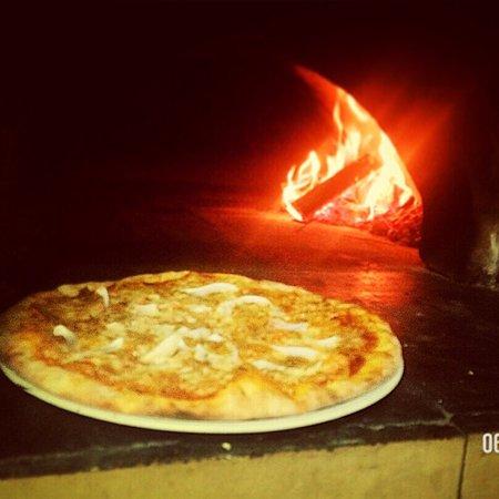 Brodarica, โครเอเชีย: Pizza, Rigatono ala fono and pancakes with forest fruit 😊 Mmmmmmmm