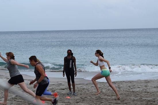 Cap Estate, سانت لوسيا: Beach fit with Donna Fraser