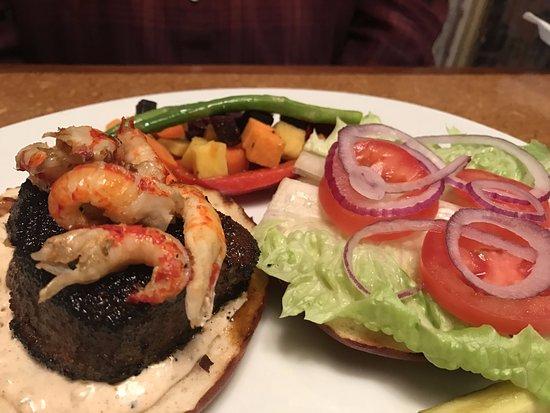 Bearded Dogg Lounge: Tuna craw fish sandwich