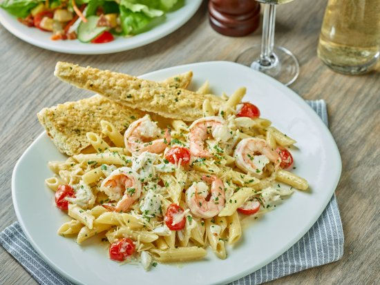 Shrimo crab penne alfredo picture of mitchell 39 s fish for Mitchell s fish market locations