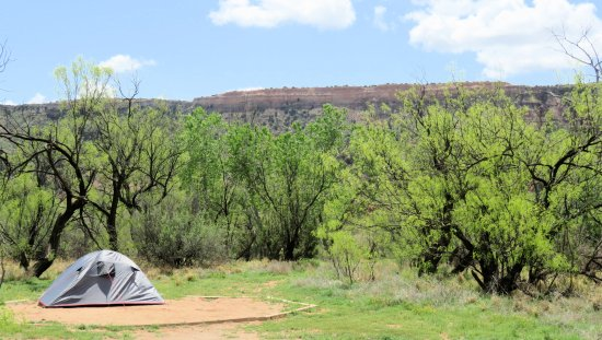 Canyon, TX: Our campsite