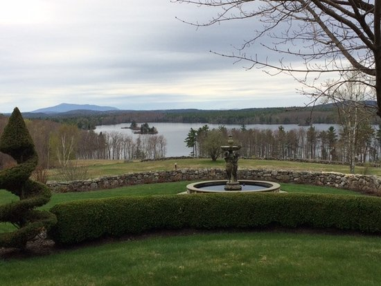 Ashburnham, MA: View from the back porch of the Maguire House with Mt. Monadnock in background.
