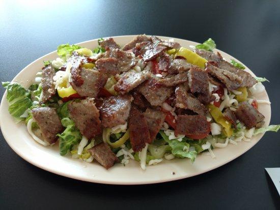 Marion, IL: Mediterranean salad with gryo meat. Yummy