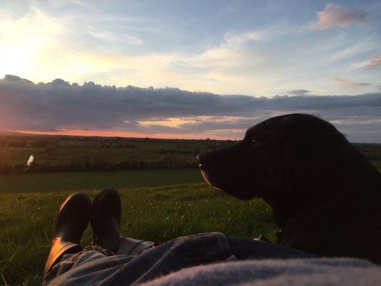 Walkers Farm Cottages: Sunset from Walkers Farm