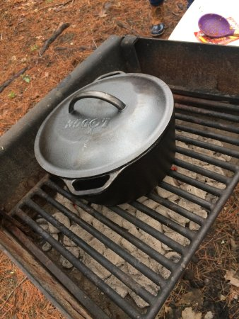Saugerties/Woodstock KOA Campground: the charcoal grill by the cabin