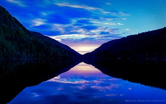 Lumby, Canada: taken right before sunrise from the dock on our site