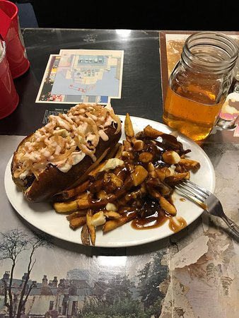 The Crazy Canuck: BBQ Brisket with a side order of Poutine and a Crazy Canuck beer!