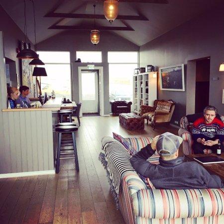 Hellnar, Islandia: Comfy lobby