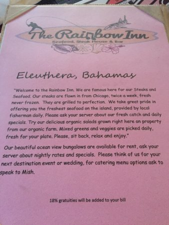 Review includes menu pics & pricing. Make reservations for Monday night!