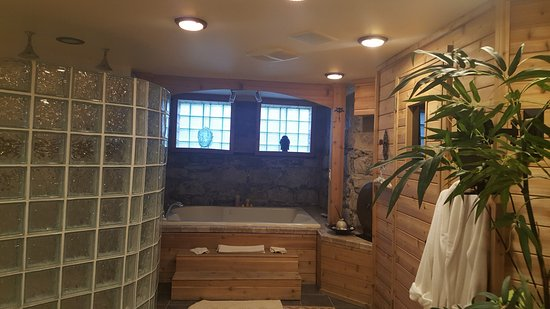Bay City, MI: The Spa with Sauna,Jacuzzi tub and double shower. Just for you