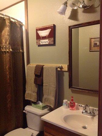 Tok, Аляска: Moonberry Room Bathroom