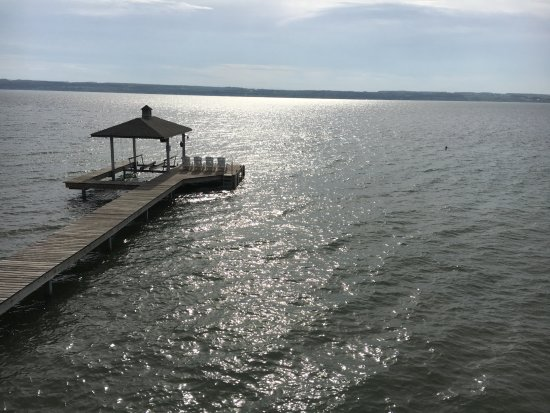 Romulus, NY: View of lake from upstairs master bedroom