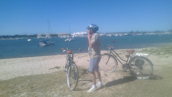 Cheap As Bike Rentals: Just Finish B.B.Q on Lovely Broadwater during our bike ride