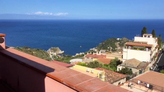 Hotel La Pensione Svizzera: Une belle vue depuis la terrasse d'une chambre du 4ème
