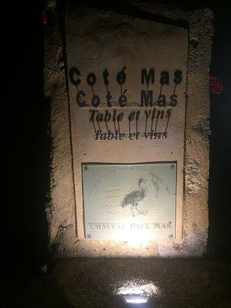 Montagnac, Francia: Panneau d'entrée du restaurant