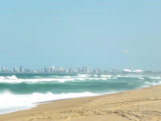View from beach behind Zeranka Lodge to Durban