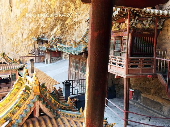 Hengshan Hanging Temple (Xuankong si): l'interno