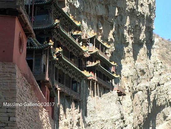 Hengshan Hanging Temple (Xuankong si): sempre dall'ingresso