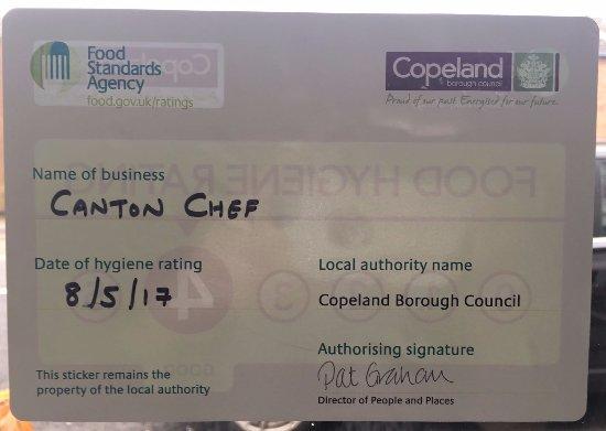 Cleator, UK: Food Hygiene Rating