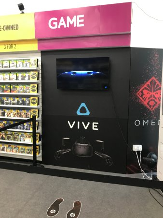 Patchway, UK: Check out our HTC Vive Area by front of store.