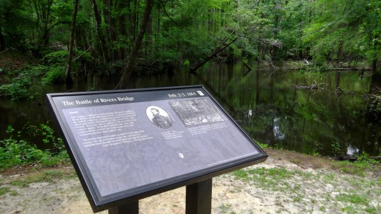 Ehrhardt, SC: Interpetive station on the battlefield