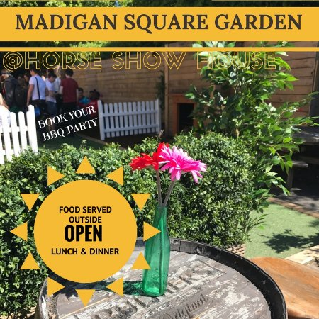 Madigan Square Garden Beer Garden at The Horse Show House
