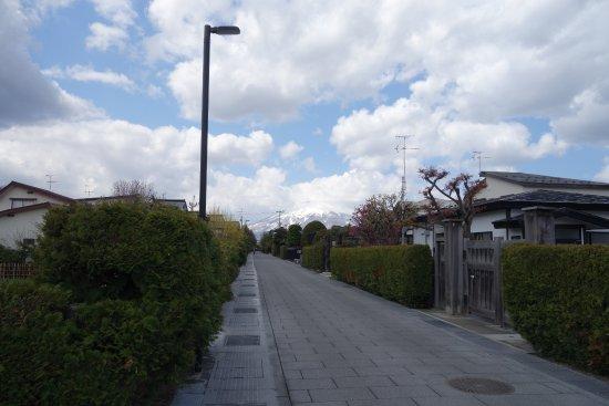 Hirosaki City Nakamachi Traditional Samurai House Preservation Area: 綺麗な生け垣の道
