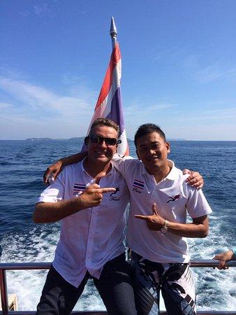 Rawai, Tailândia: Franck and Tip...Latitude Team