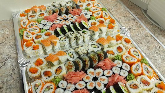 Utena, Lithuania: Sushi sushi,,,  for party, and dinner!!!