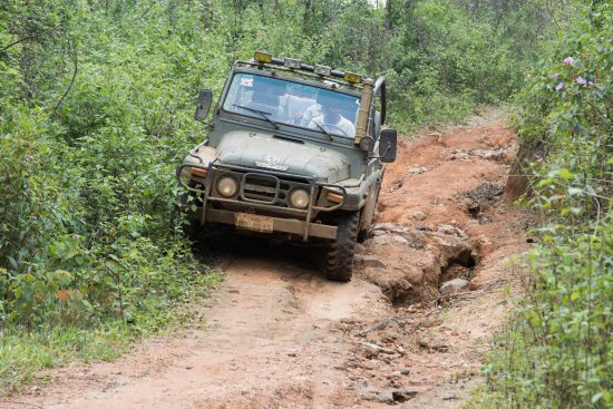 Paksong, Laos: Road for discovery by jeep !