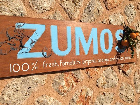 Zumo de naranjas de Fornalutx, fresquito!!!